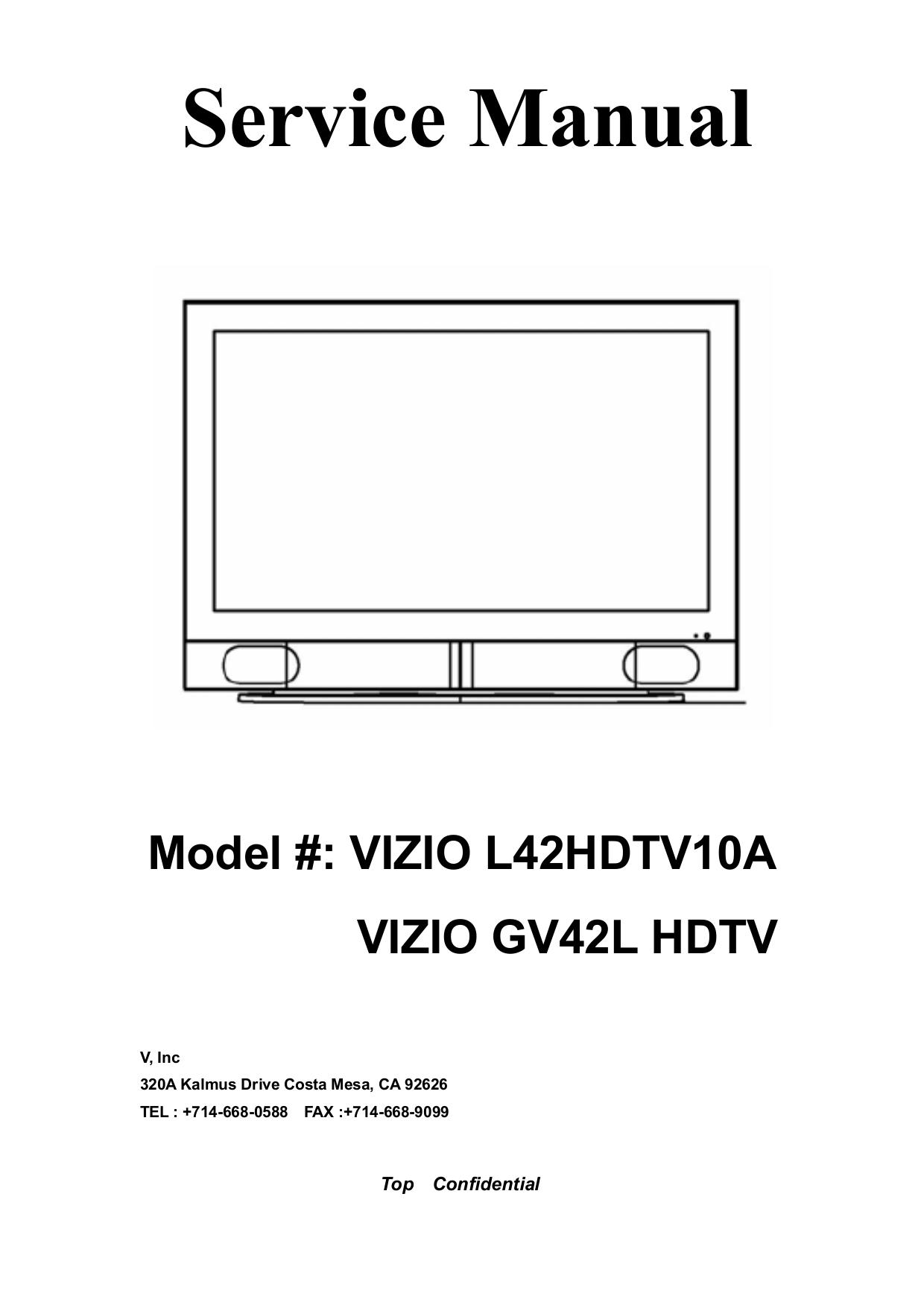 download free pdf for vizio vx42l tv manual rh umlib com Vizio VX42L Stand Vizio VX42L Stand