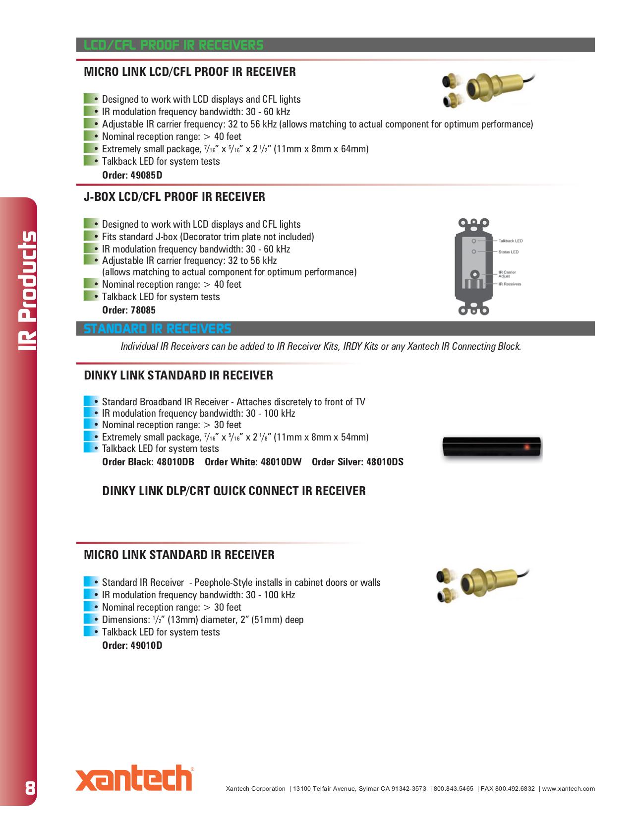 Xantech Ir Receiver Wiring Diagram - Residential Electrical Symbols •