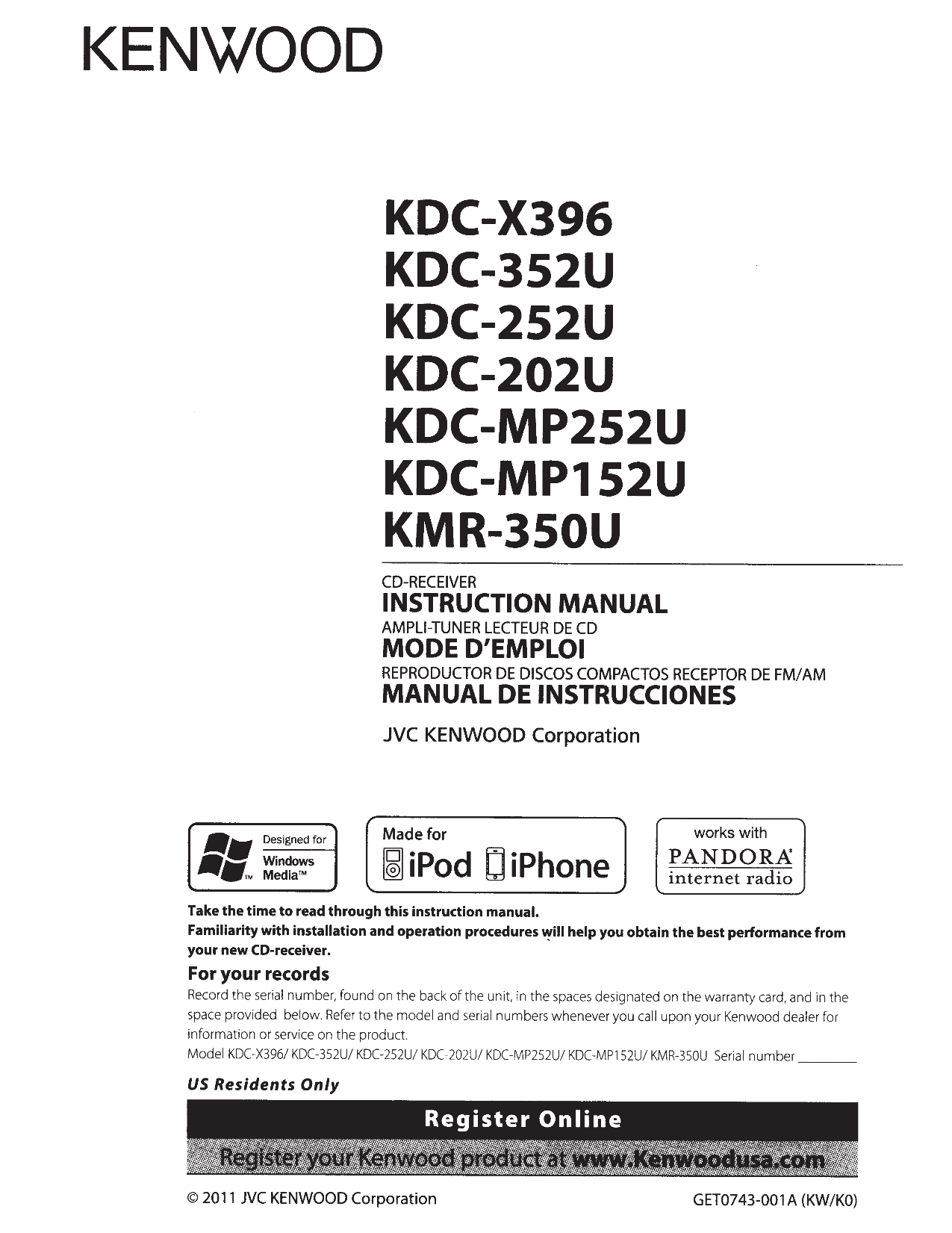 113KDC202U.PDF 0 kenwood kdc 2011s wiring diagram kenwood kdc wiring hanes's 2011s 2016 Honda NM4 Carrier Rack at bakdesigns.co