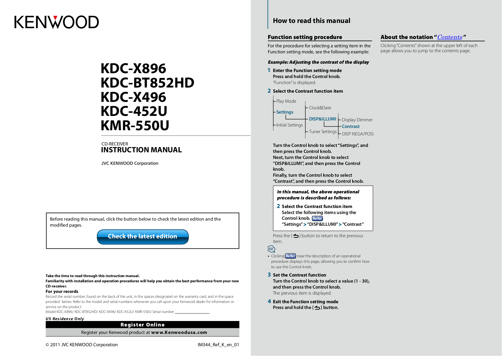 Download Free Pdf For Kenwood Kdc 2011s Car Receiver Manual Model Wiring Diagram 3011