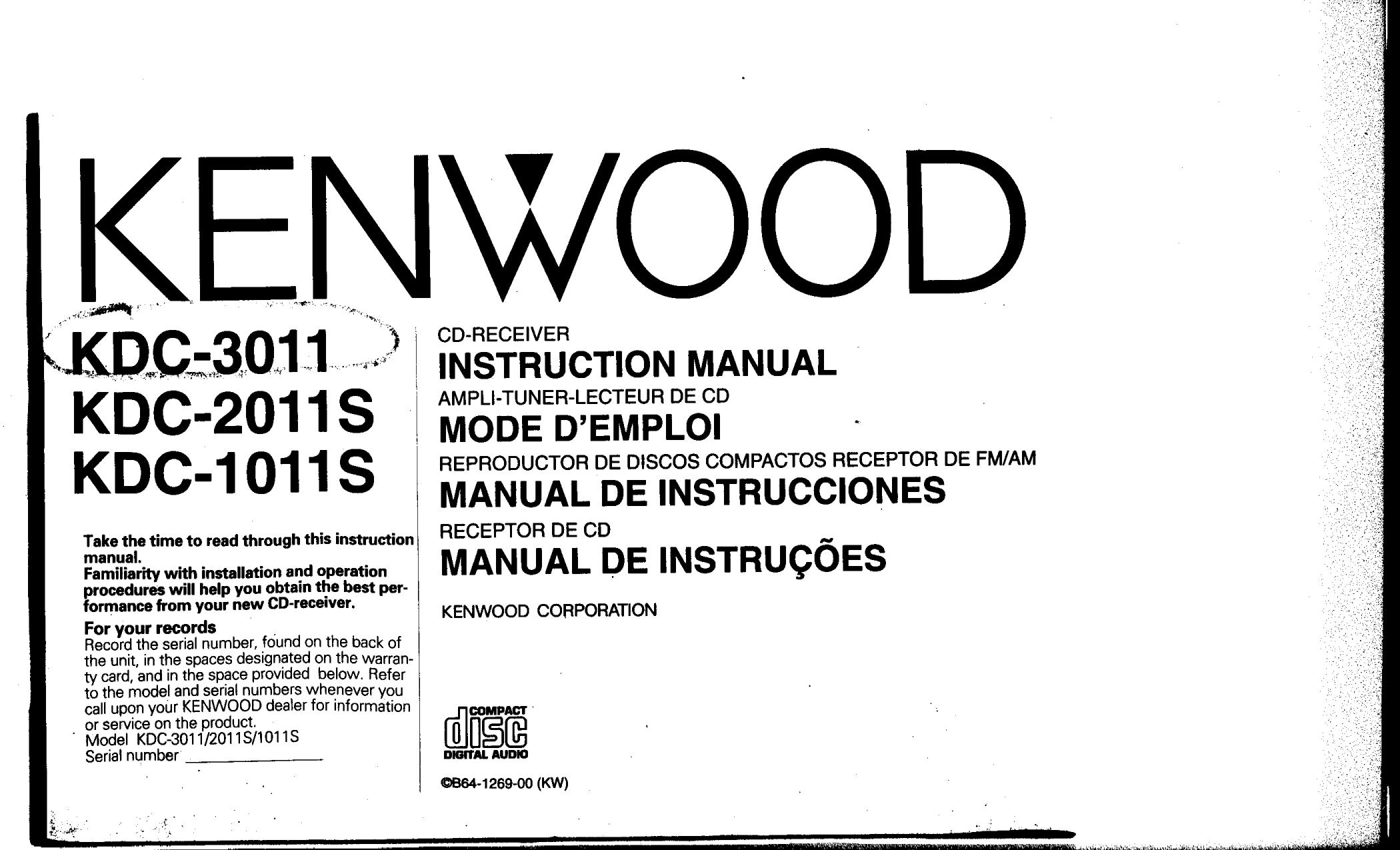 Kenwood Kdc 2011s Wiring Diagram - Wiring Diagrams List on