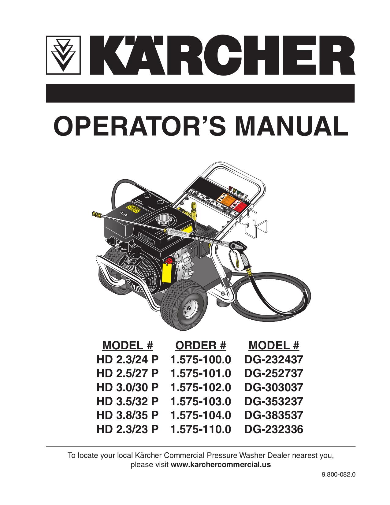 Download Free Pdf For Karcher G 2400 Hh Pressure Washers
