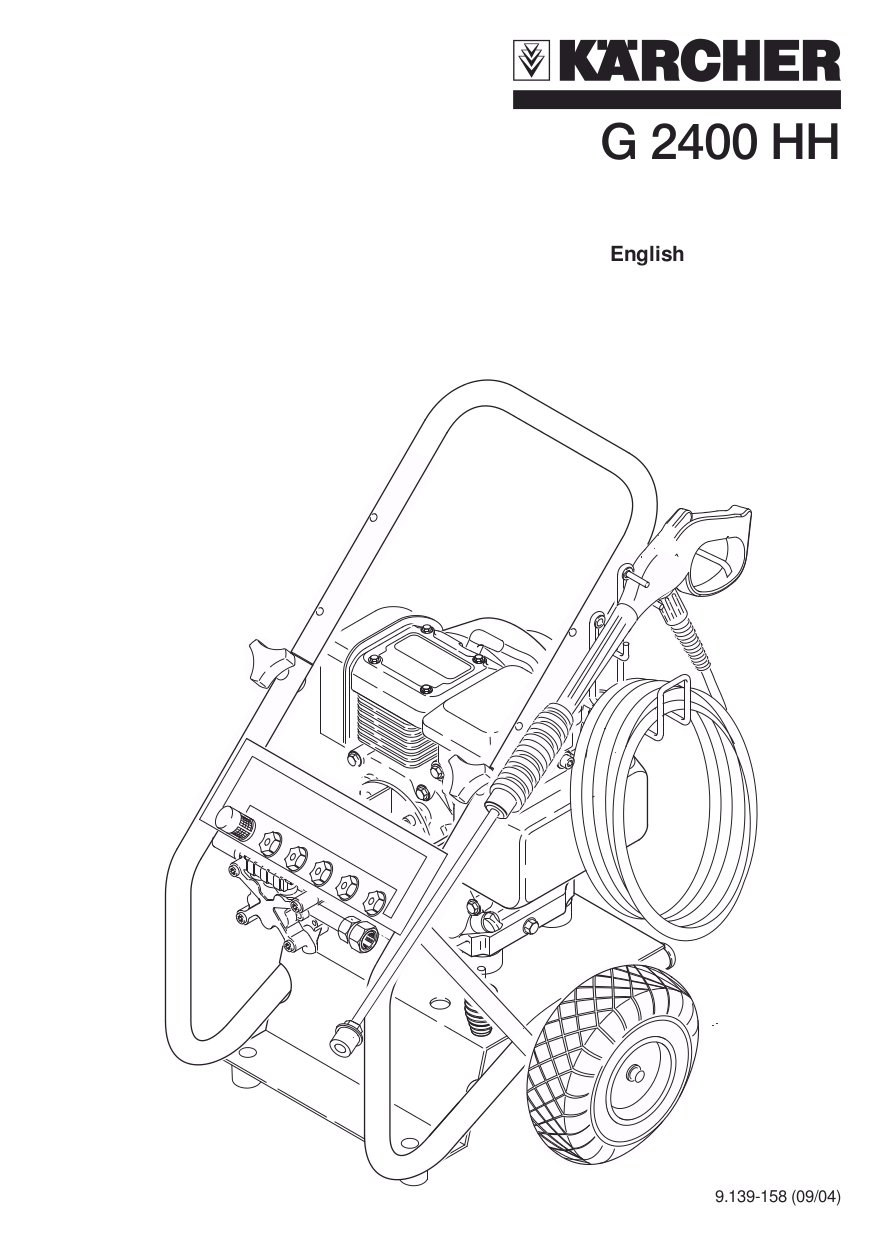 honda karcher pressure washer manual