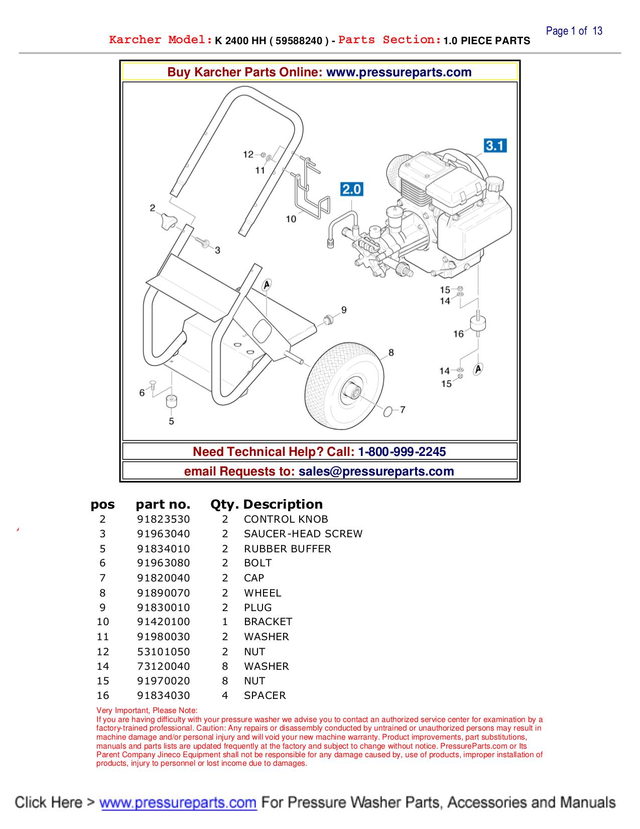 karcher g 2650 hh manual