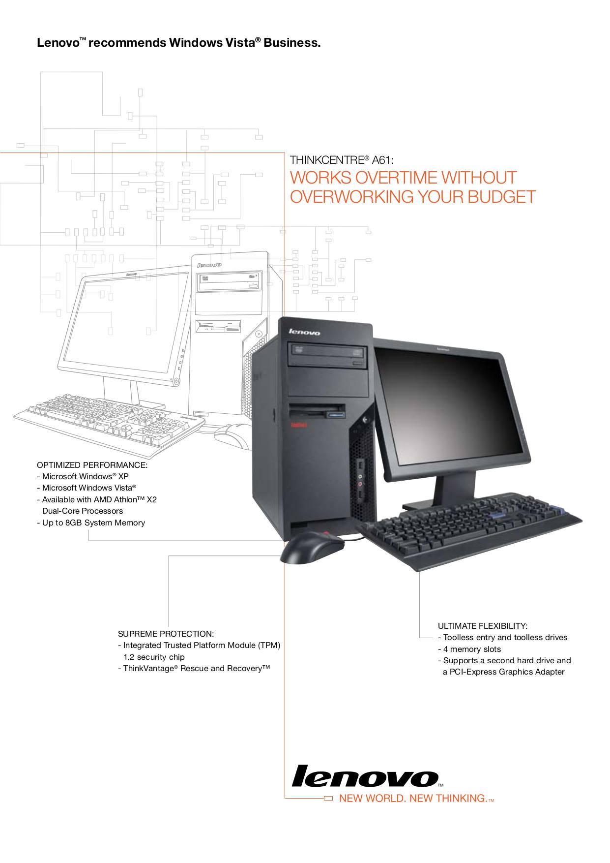 pdf for Lenovo Desktop ThinkCentre A61 9144 manual