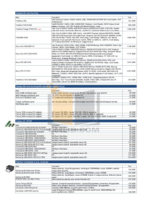 Asus Monitor MS226H pdf page preview