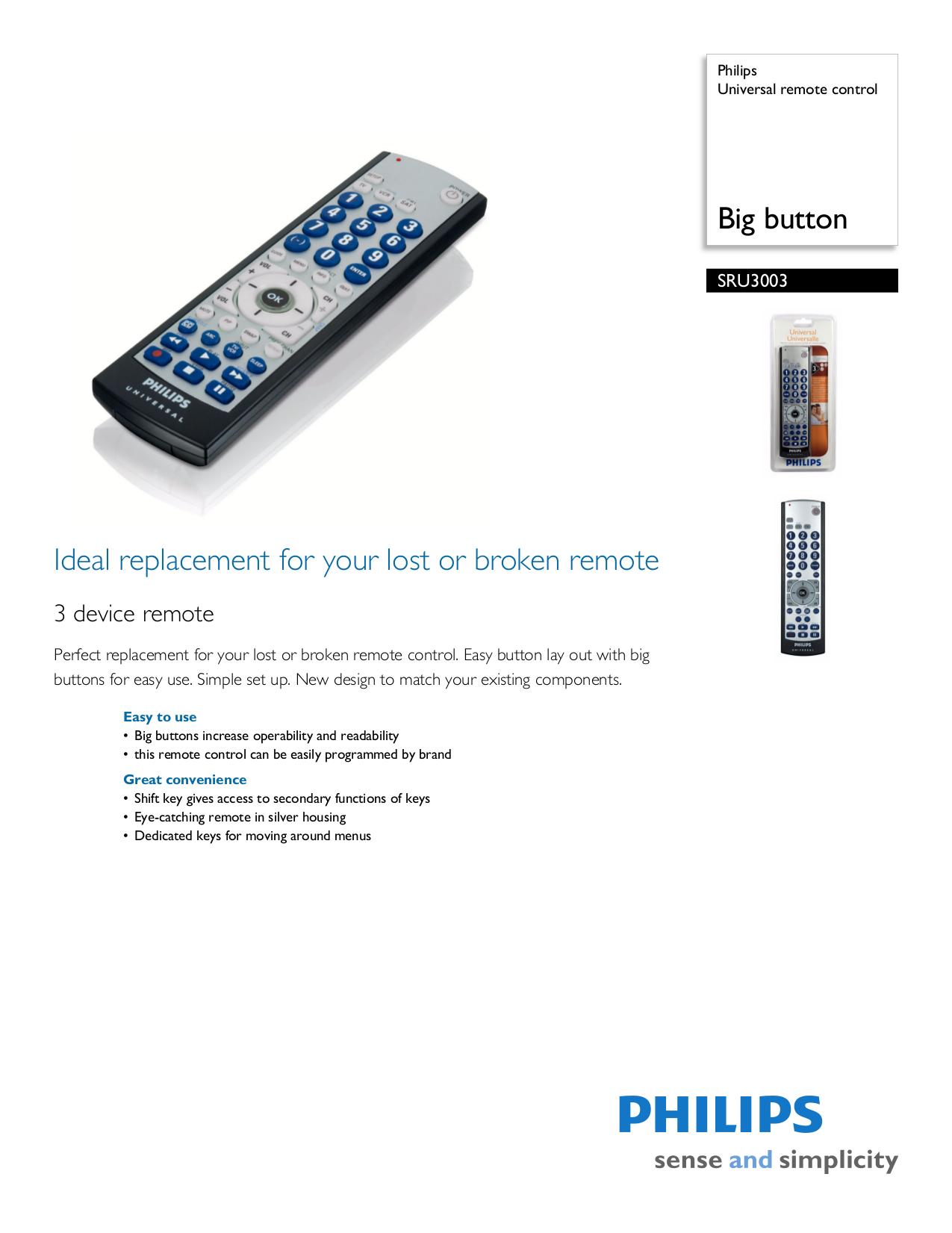 download free pdf for philips sru3003 remote control manual rh umlib com philips universal remote control sru3003wm 17 manual Philips Universal Remote Television Codes