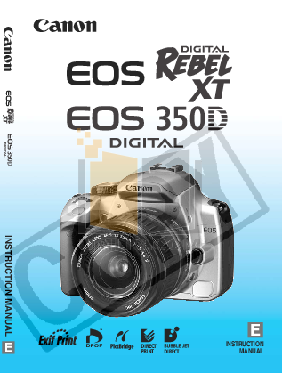 Download free pdf for Canon EOS 350D Digital Camera manual