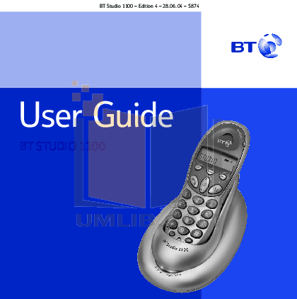 pdf for Clarity Telephone W1100 manual