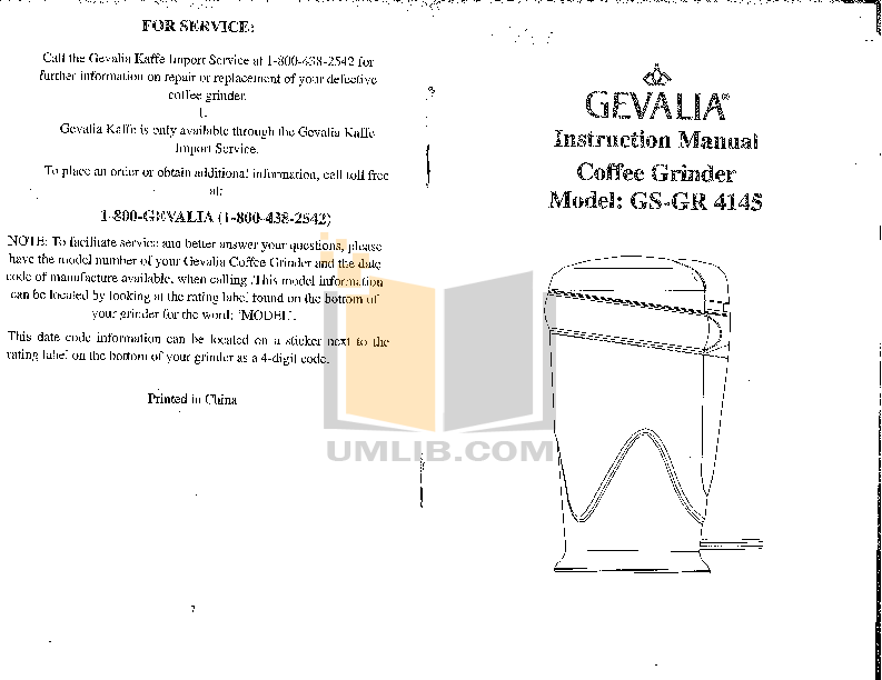 Pdf For Gevalia Coffee Maker Gs Gr 4145 Manual