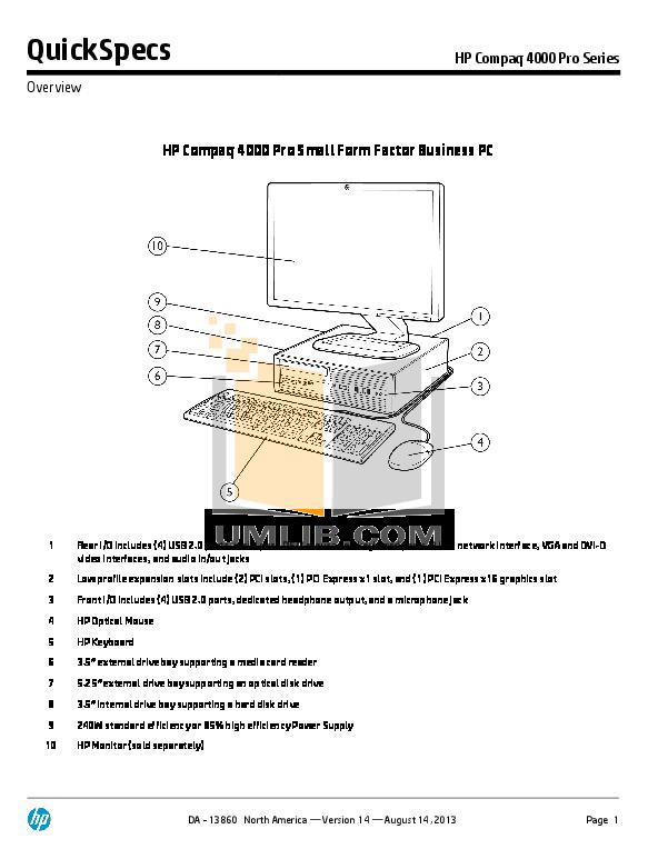 download free pdf for hp compaq 4000 pro sff desktop manual rh umlib com hp computer manuals download hp desktop 460 manual