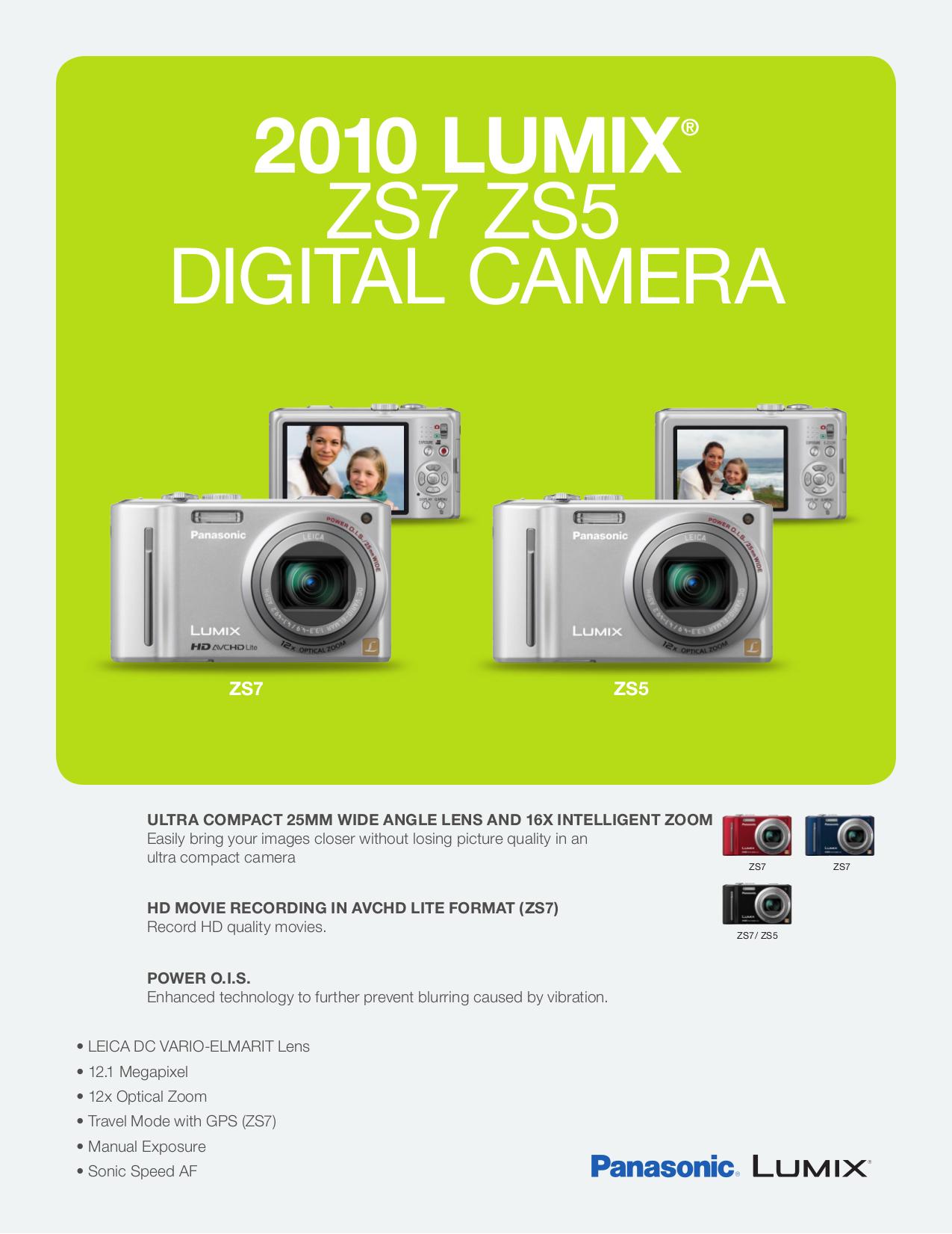 download free pdf for panasonic lumix dmc zs5 digital camera manual rh umlib com Panasonic DMC GF3 panasonic dmc-zs5 manual español