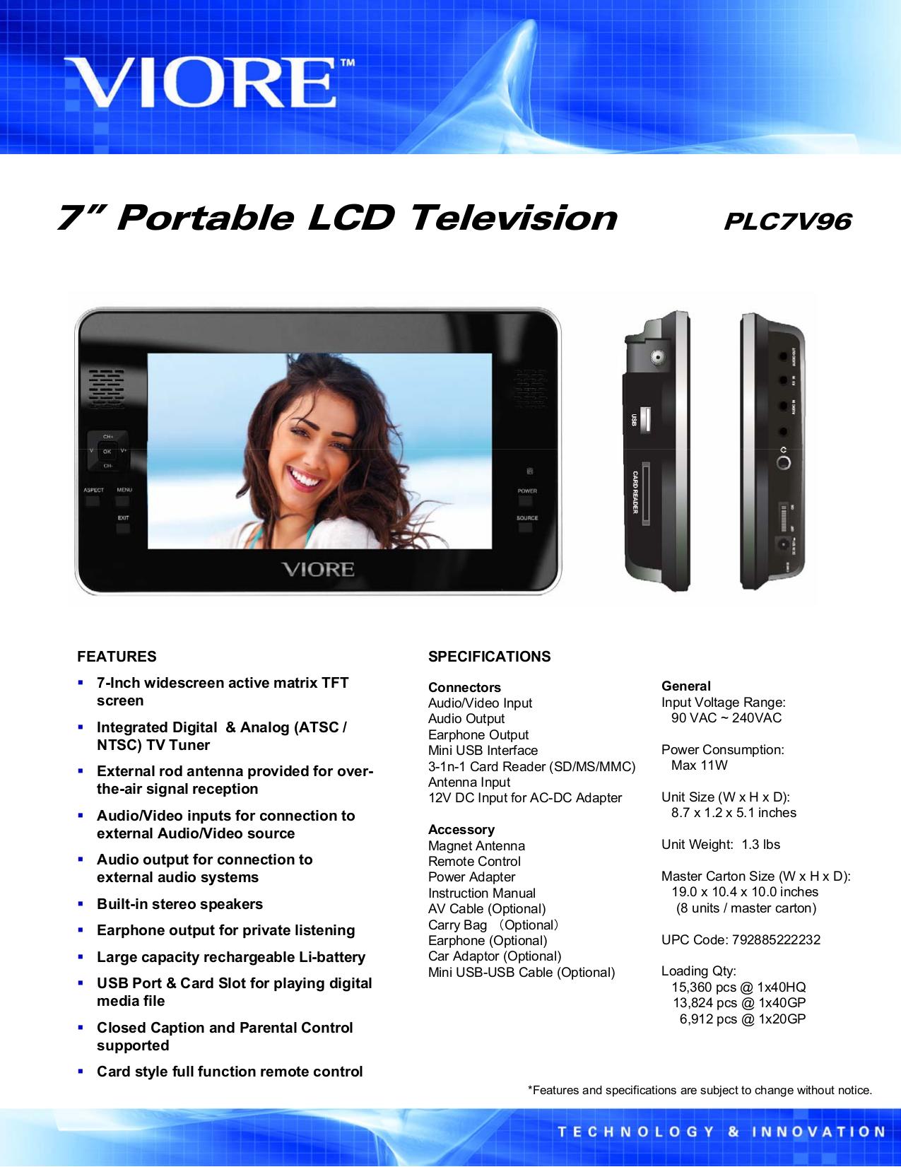 download free pdf for viore plc7v96 tv manual rh umlib com