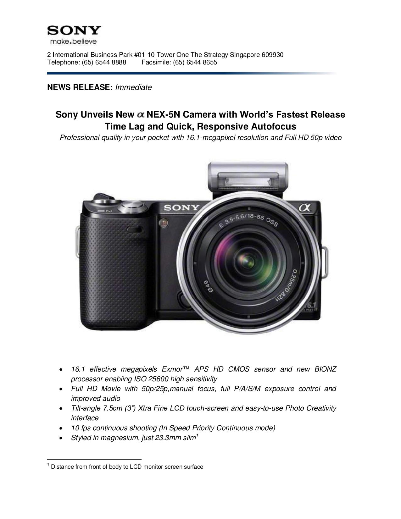 Manual pdf nex-5r sony