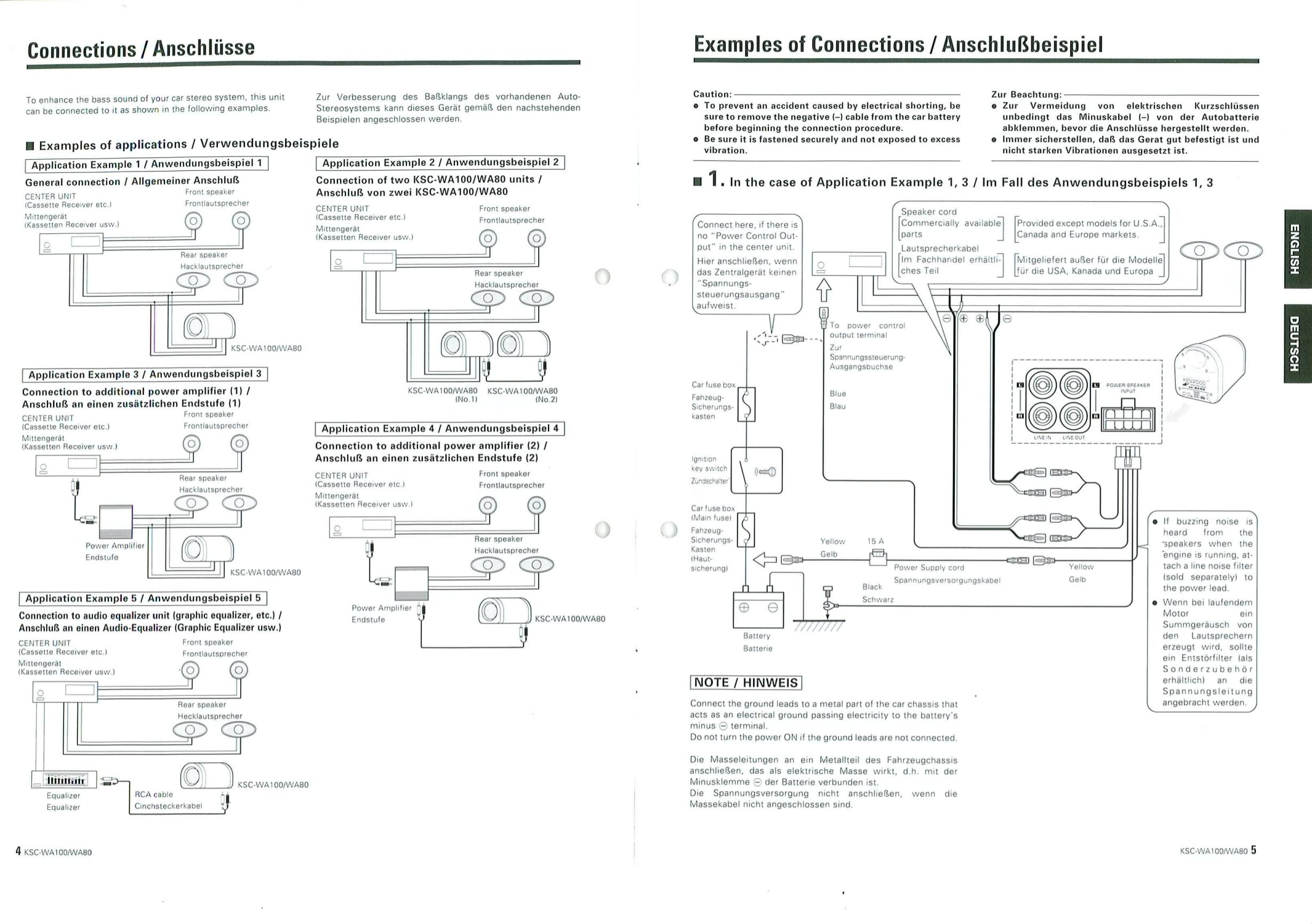 kenwood home subwoofer wiring diagram pdf manual for    kenwood       subwoofer    ksc wa80  pdf manual for    kenwood       subwoofer    ksc wa80