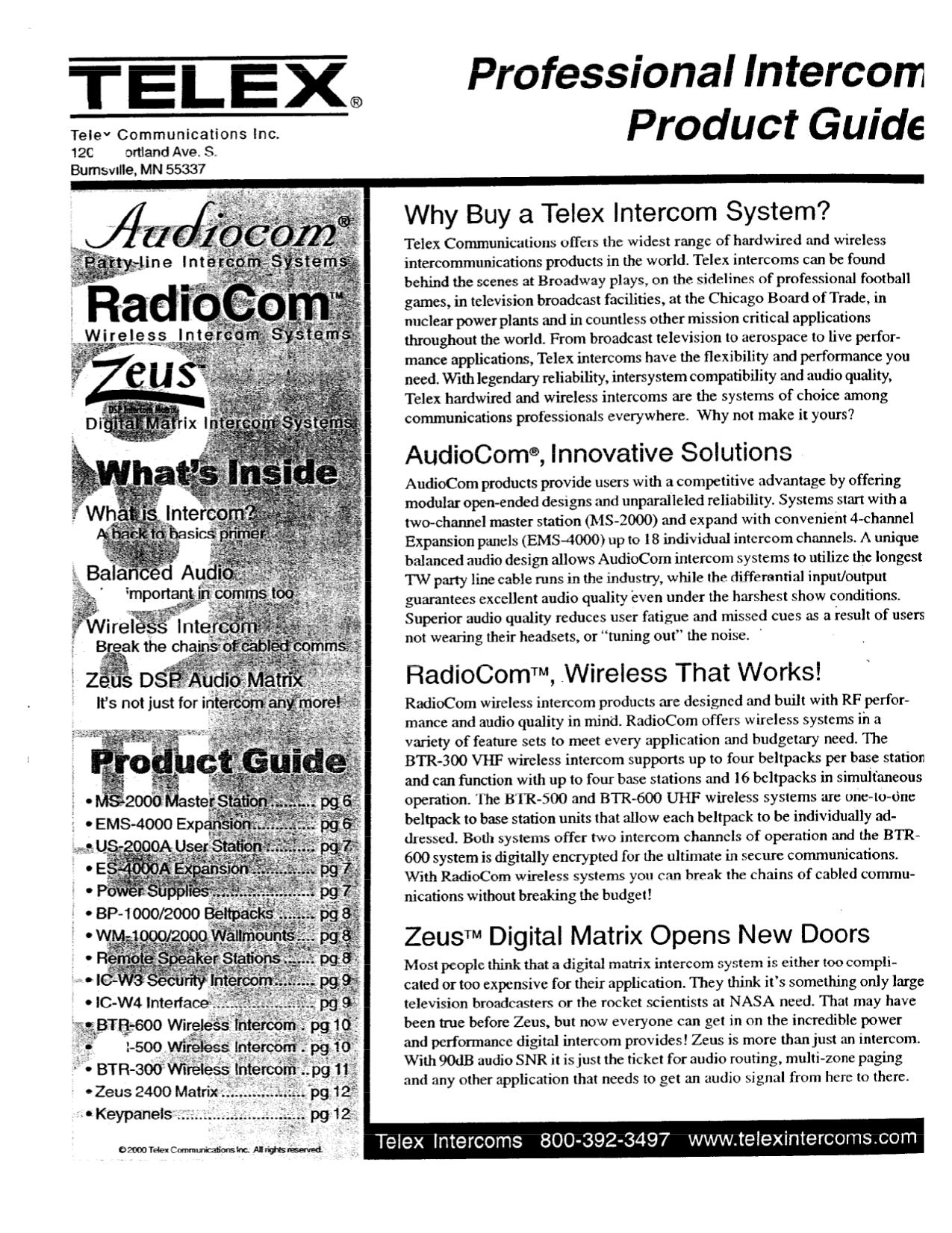 Tremendous Download Free Pdf For Telex Btr 300 Intercom System Other Manual Wiring 101 Olytiaxxcnl