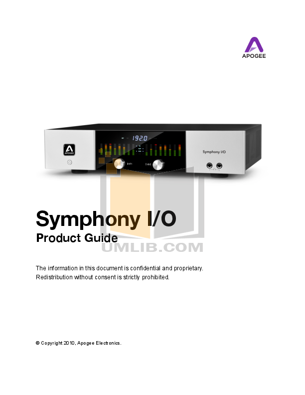 pdf for Apogee Other DA-16X Converters manual