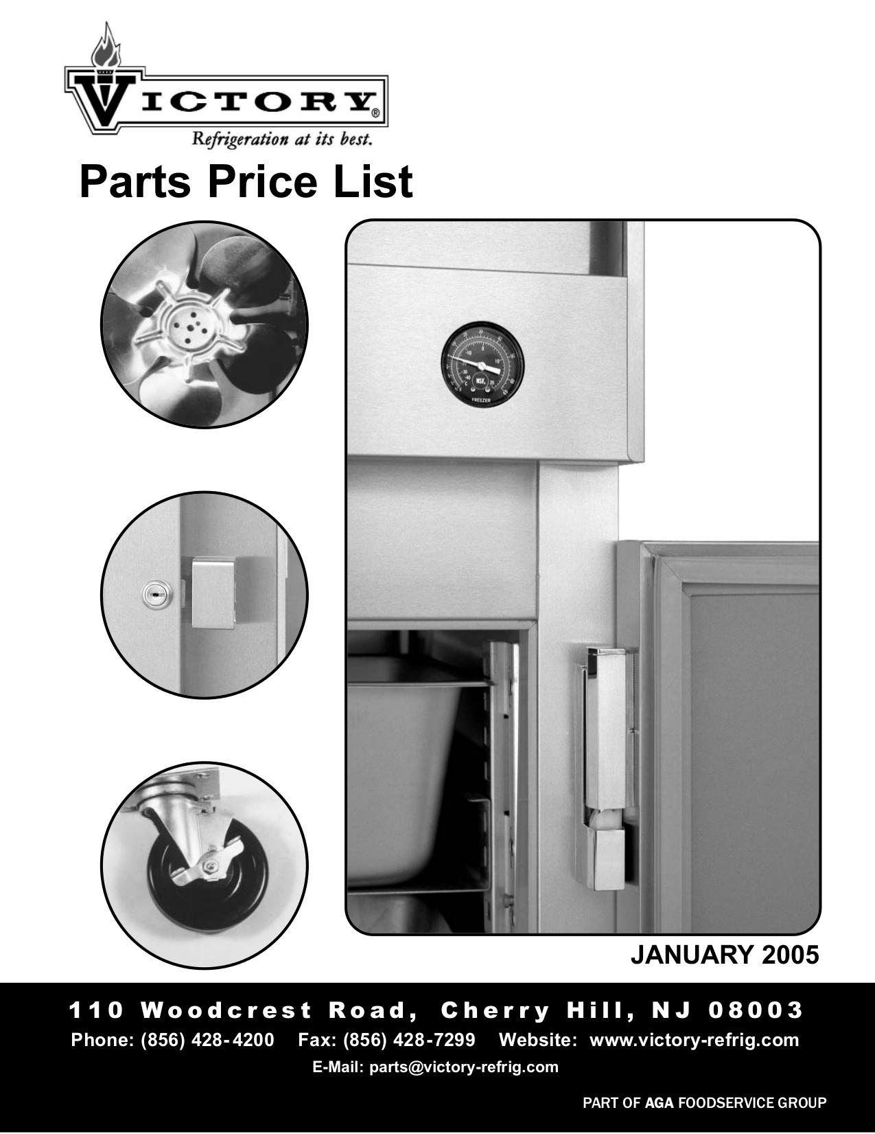 pdf for Victory Freezer RFS-36-S7 manual