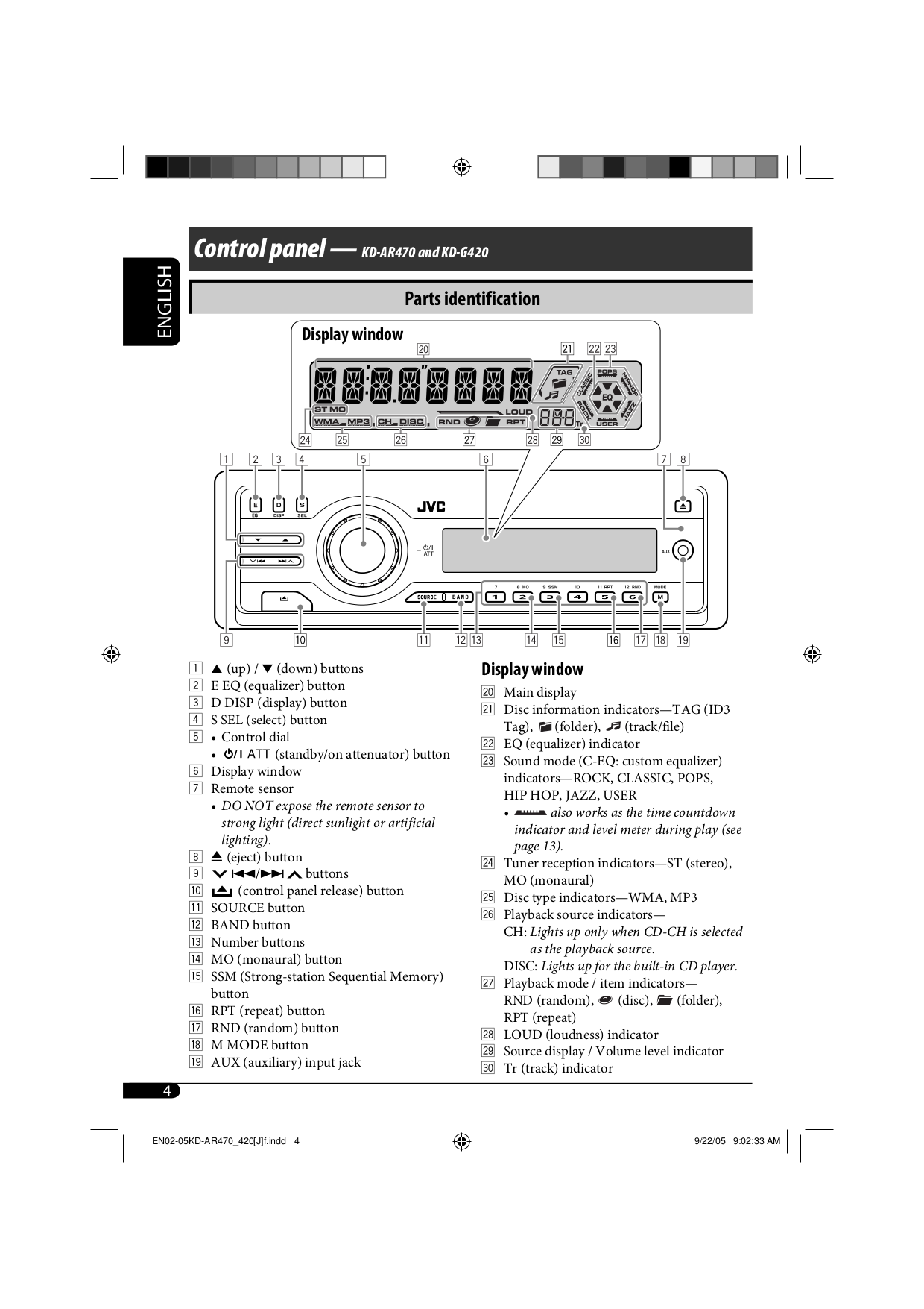 ... JVC Car Receiver KD-G611 pdf page preview ...