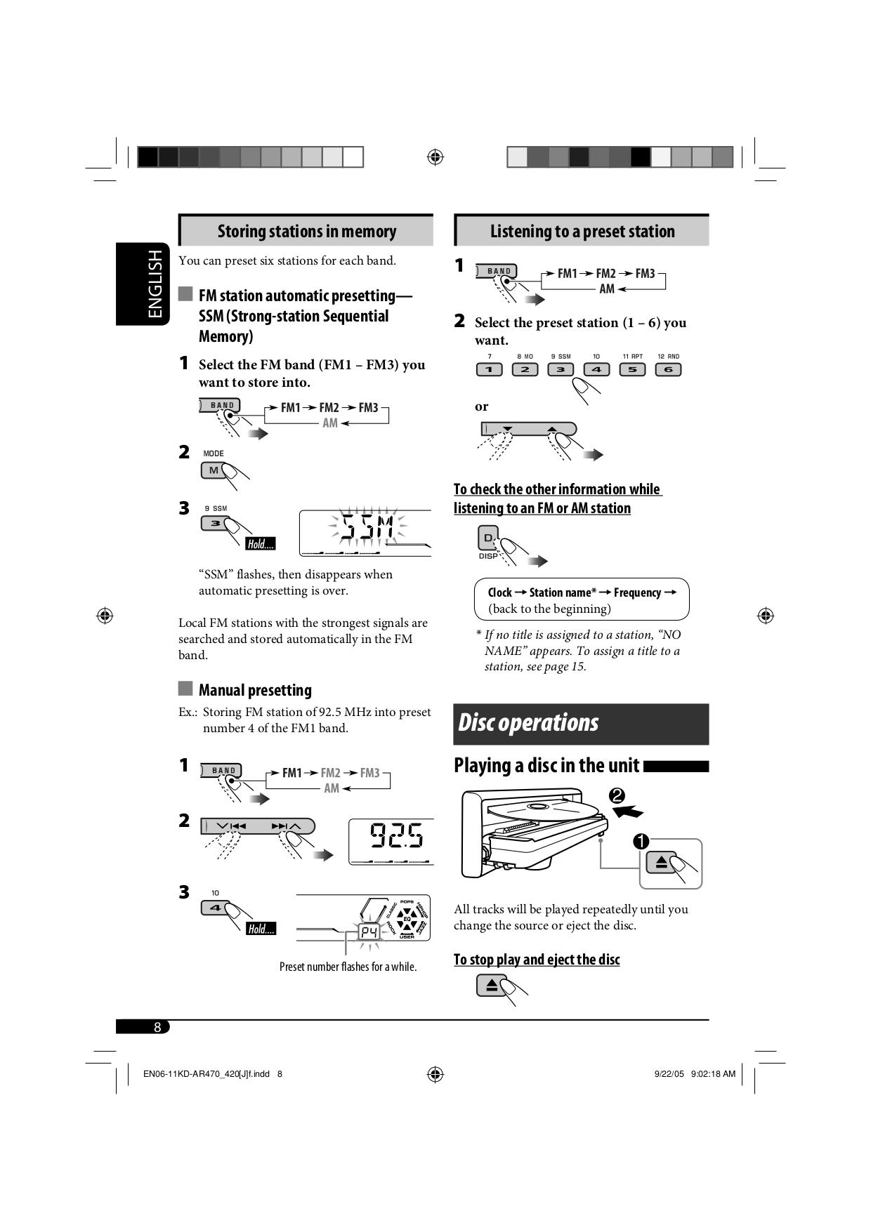 ... JVC Car Receiver KD-G611 pdf page preview
