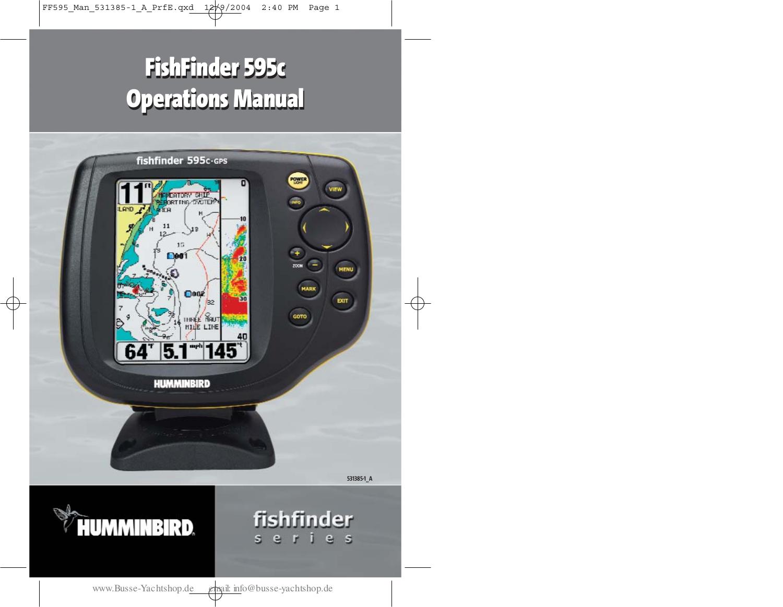 pdf for Humminbird Other CH Thirty II Fishfinder manual