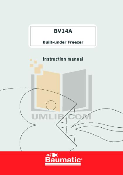 pdf for Baumatic Freezer BF340 manual
