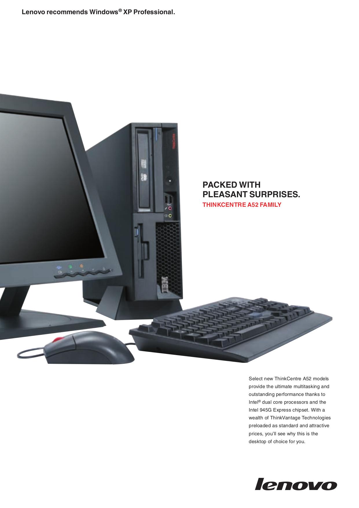 pdf for Lenovo Desktop ThinkCentre A52 8344 manual