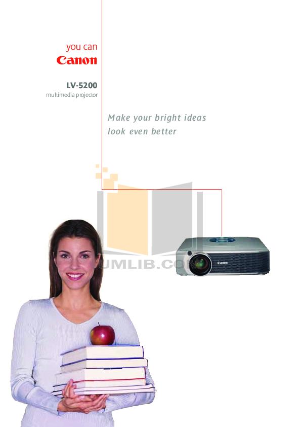 pdf for Canon Projector LV-5200 manual