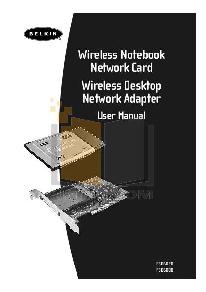 pdf for Belkin Router F5D6000 manual
