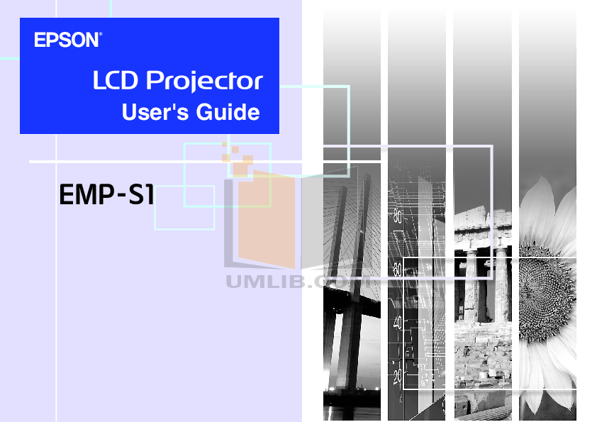 pdf for Epson Projector EMP-52 manual