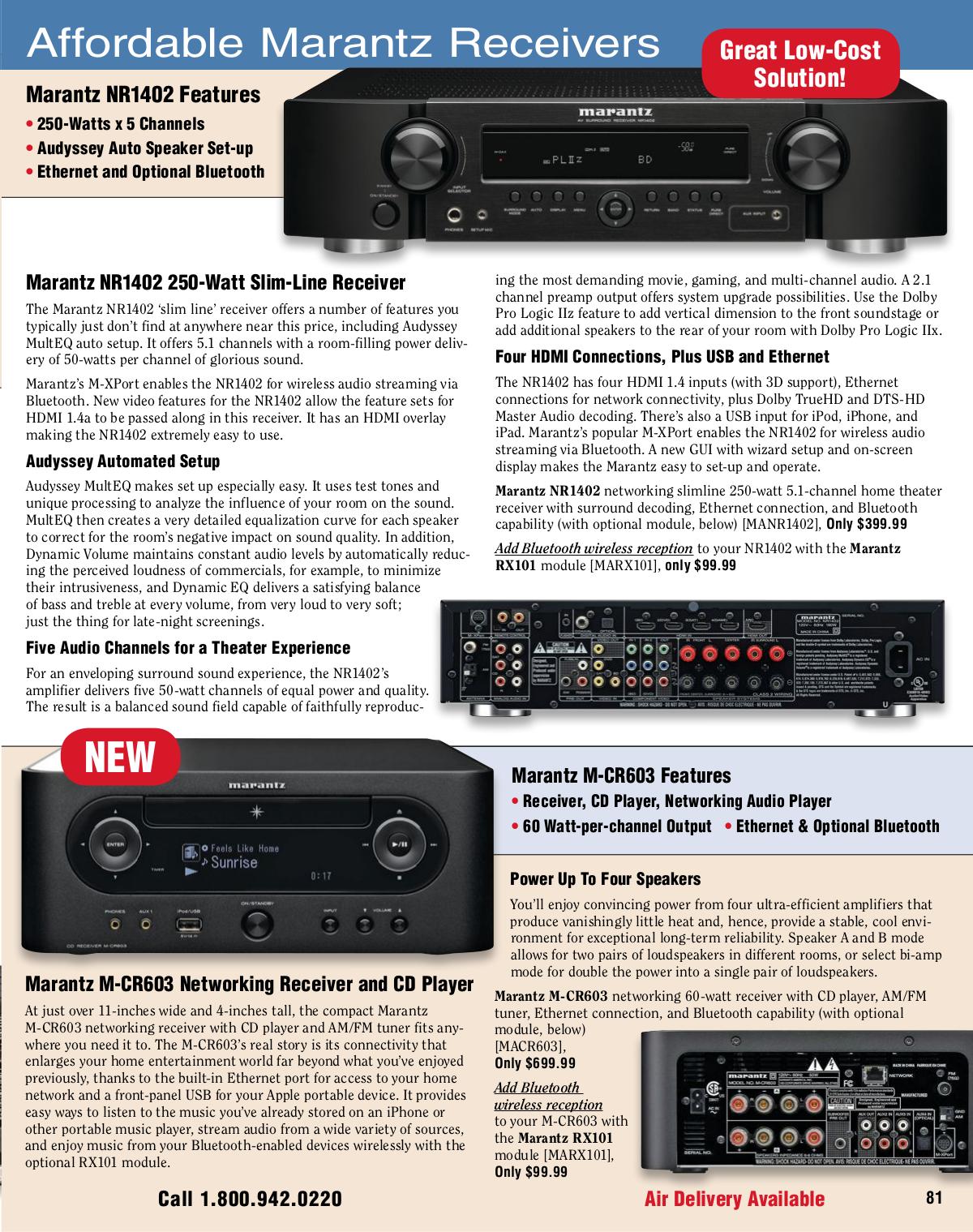 download free pdf for marantz nr1402 receiver manual rh umlib com Marantz NR1402 Review Marantz NR1402 AV Receiver Review