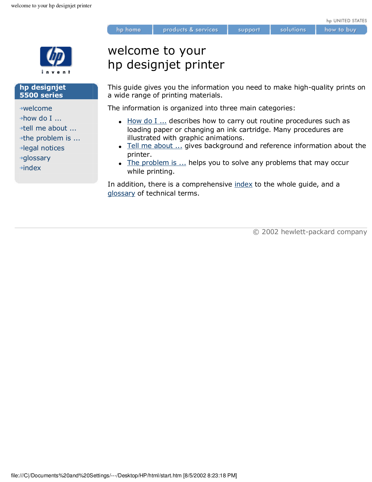 Hp spare parts numbers for hp designjet 5000 and 5500 printers.
