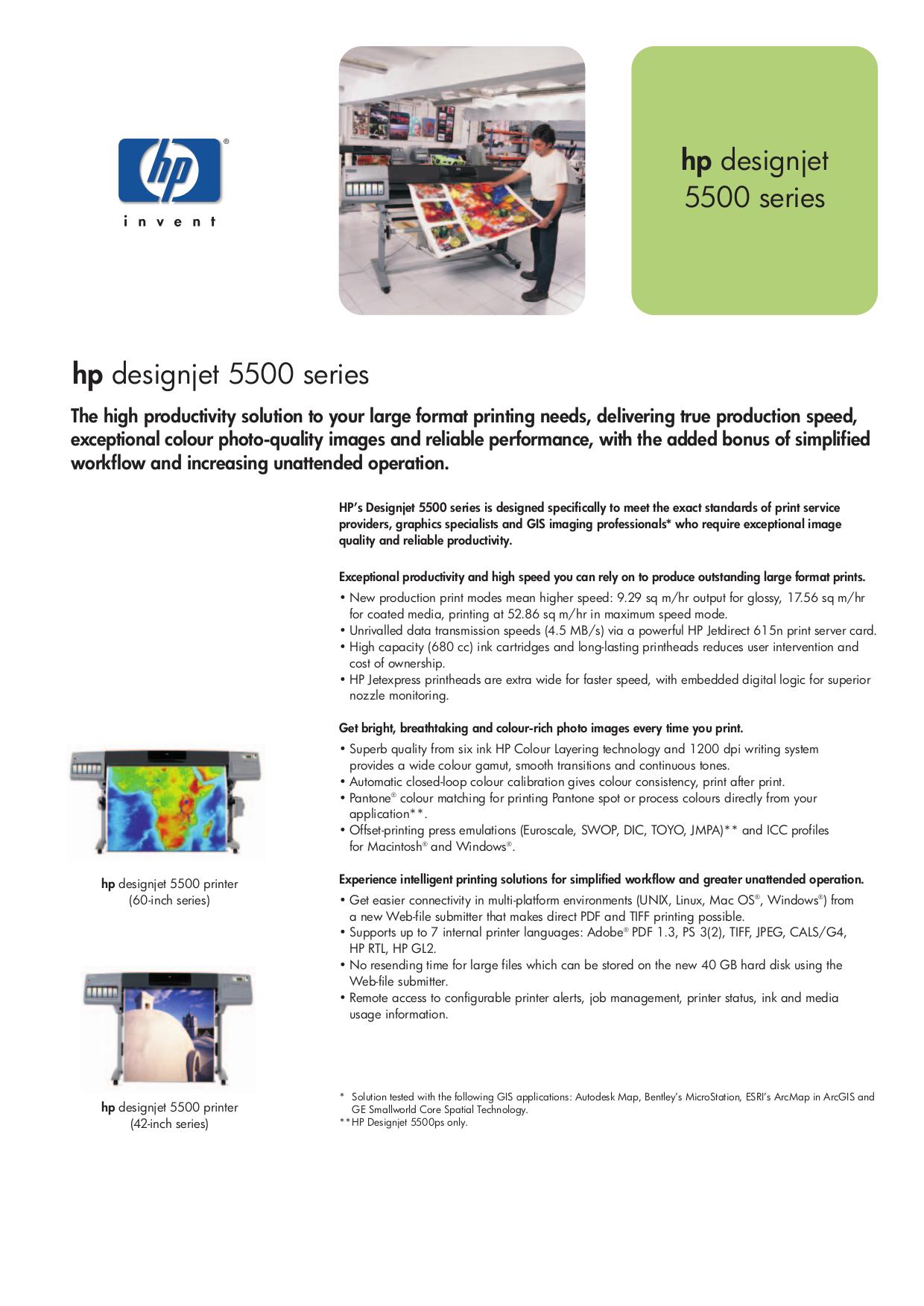 Download free pdf for hp designjet 5500ps printer manual.
