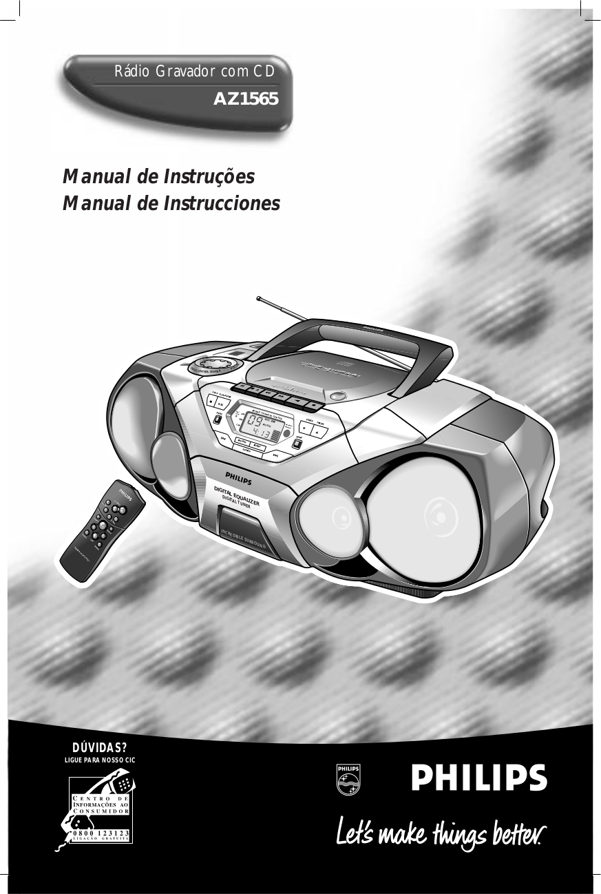 pdf for Philips Boombox AZ1565 manual