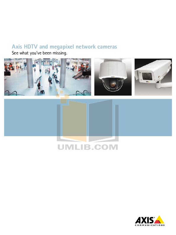 pdf for Axis Security Camera M3204-V manual