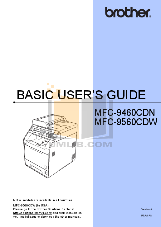 pdf for Brother Fax Machine FAX-170 manual