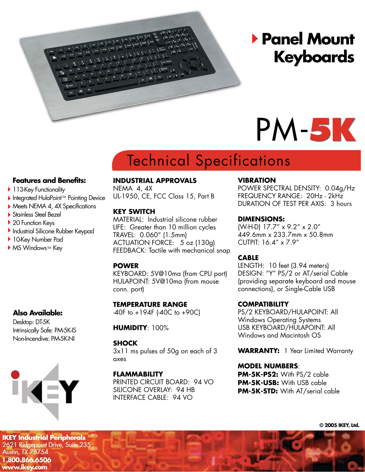 pdf for iKey Keyboard DT-5K-IS manual