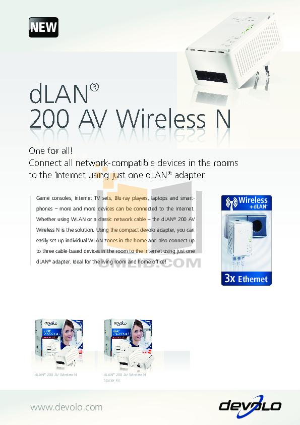 pdf for Devolo Other dLAN 200 AV Wireless G Adapter manual