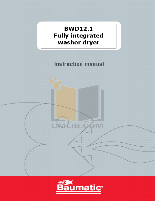pdf for Baumatic Washer BWD12.1 manual