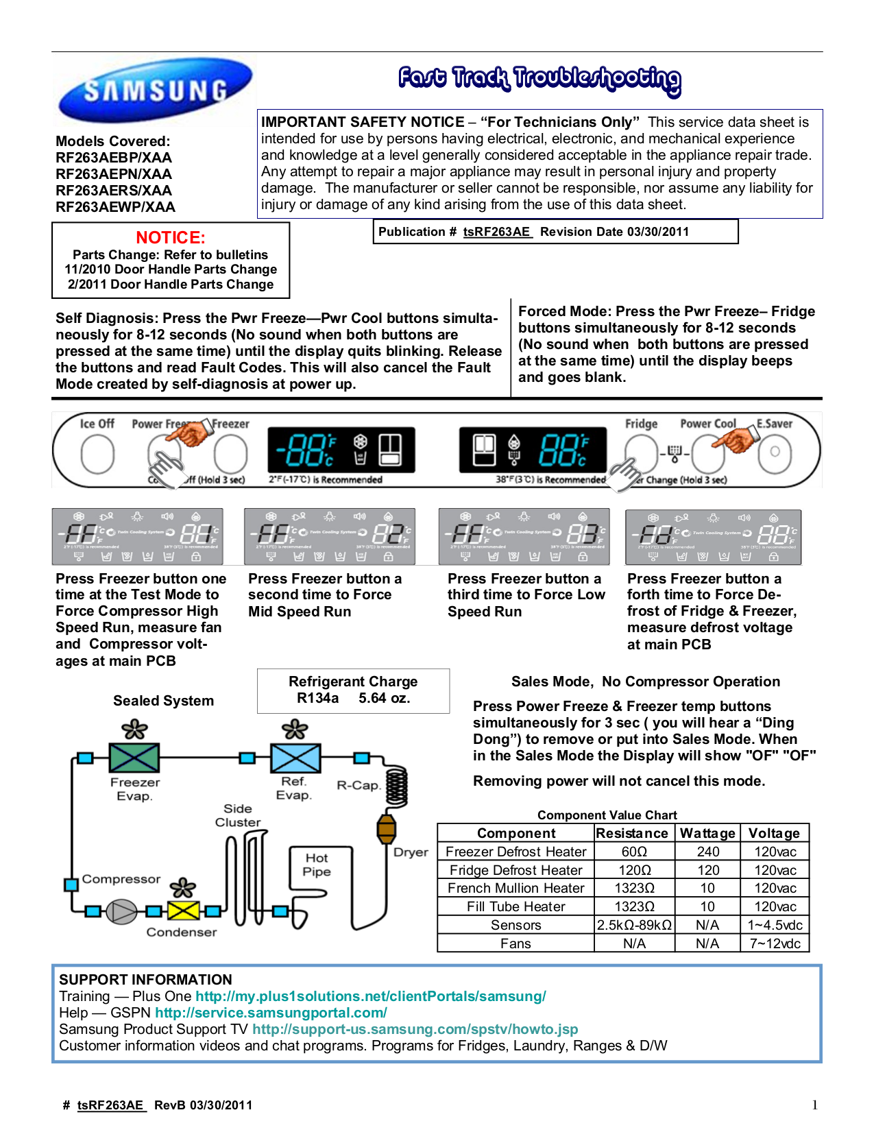 pdf for Samsung Refrigerator RF263AEPN manual