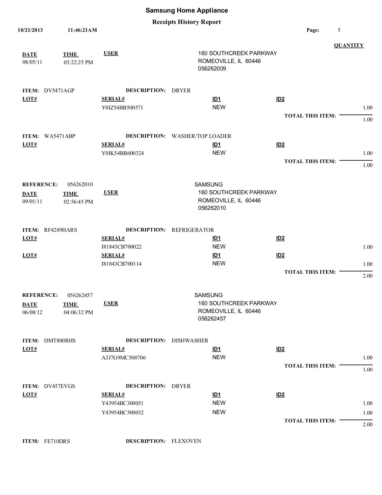 Samsung Refrigerator RF263AEPN pdf page preview