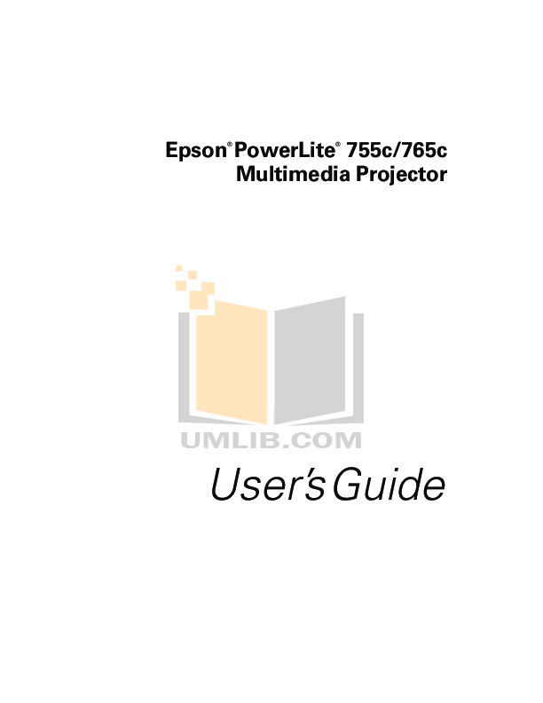 pdf for Epson Projector EMP-765 manual