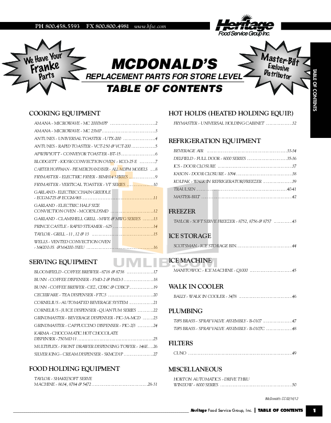 pdf for Cecilware Other BG-24 Griddles manual