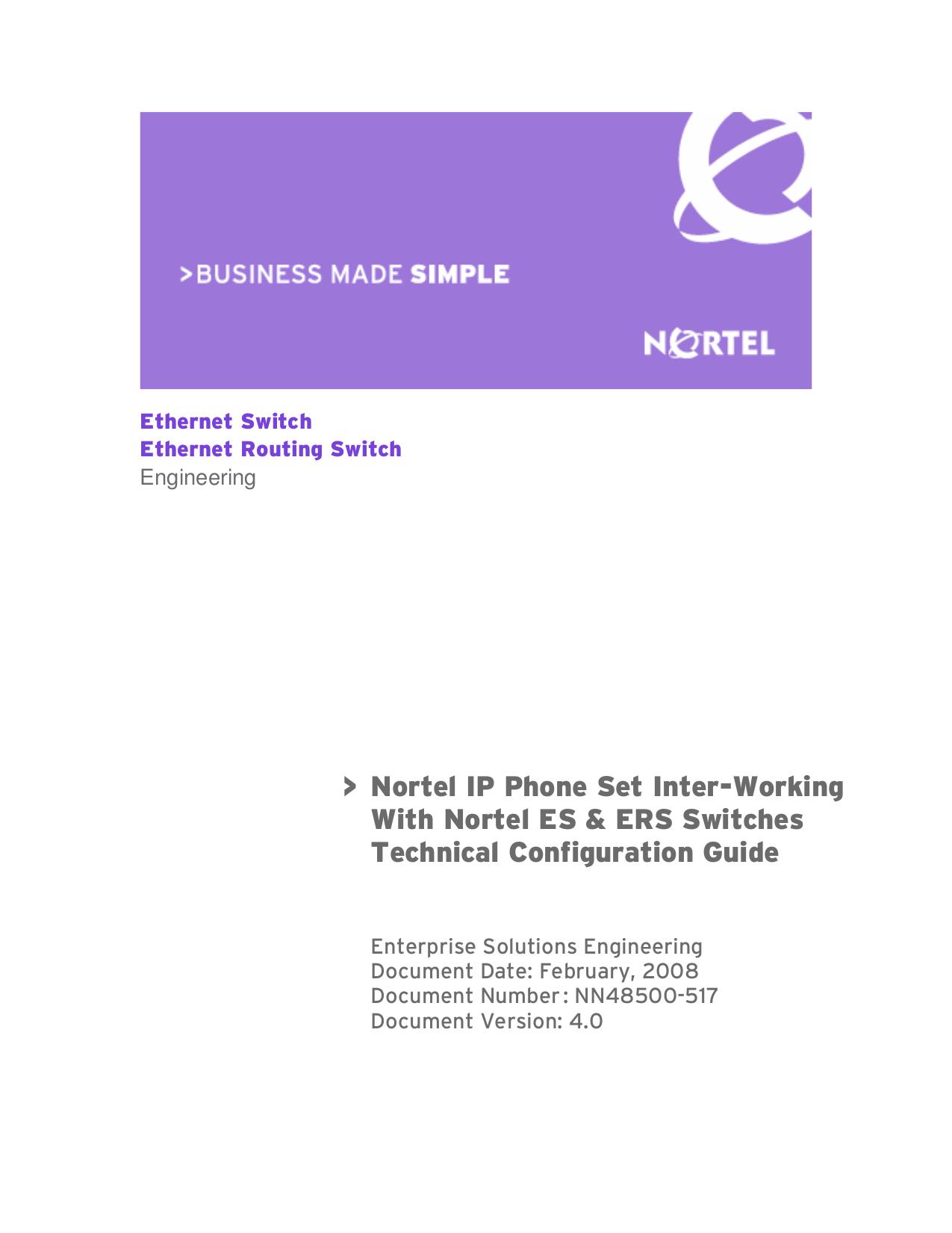 pdf for Nortel Switch Passport 4526GTX manual