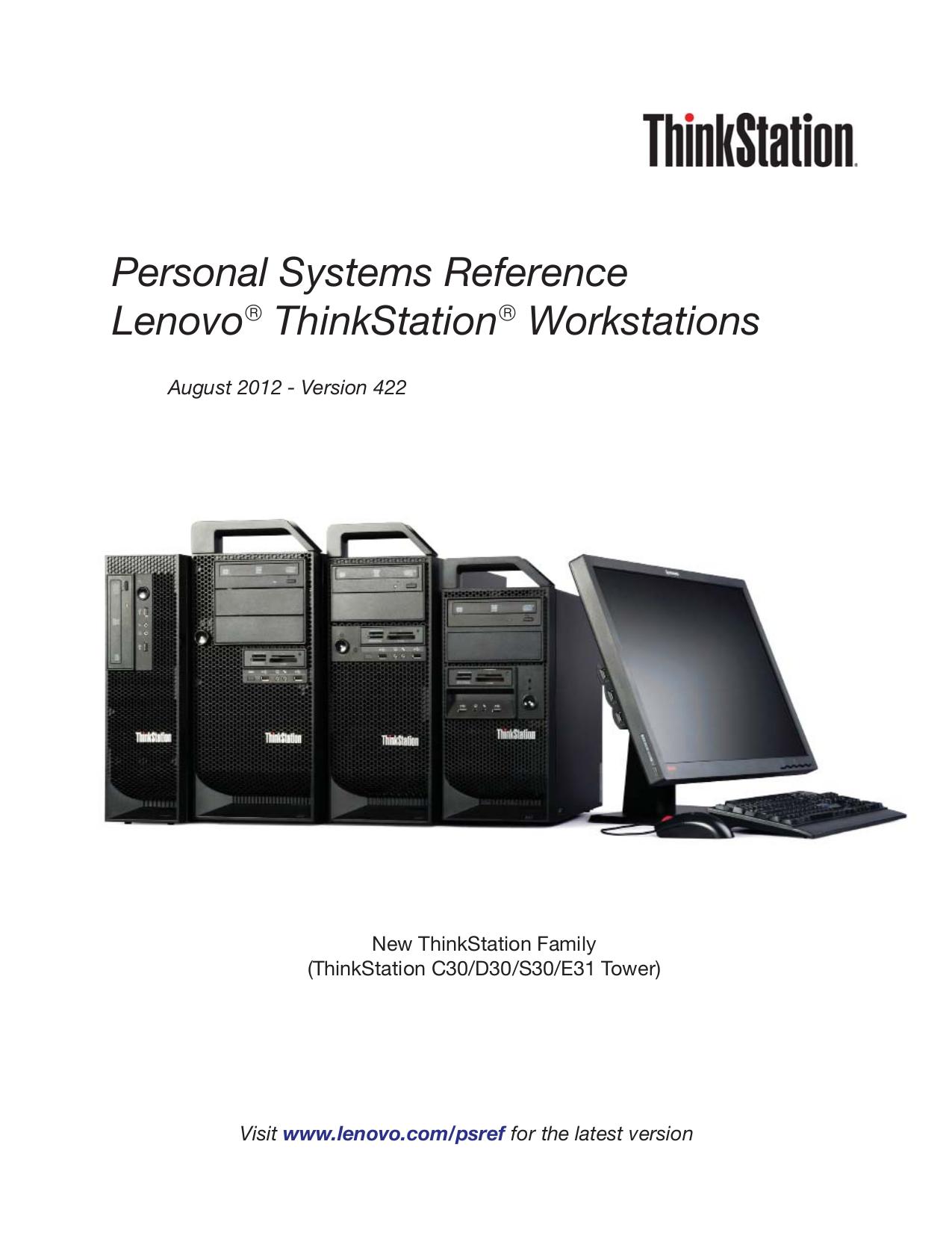 pdf for Lenovo Desktop ThinkStation C20x 4269 manual