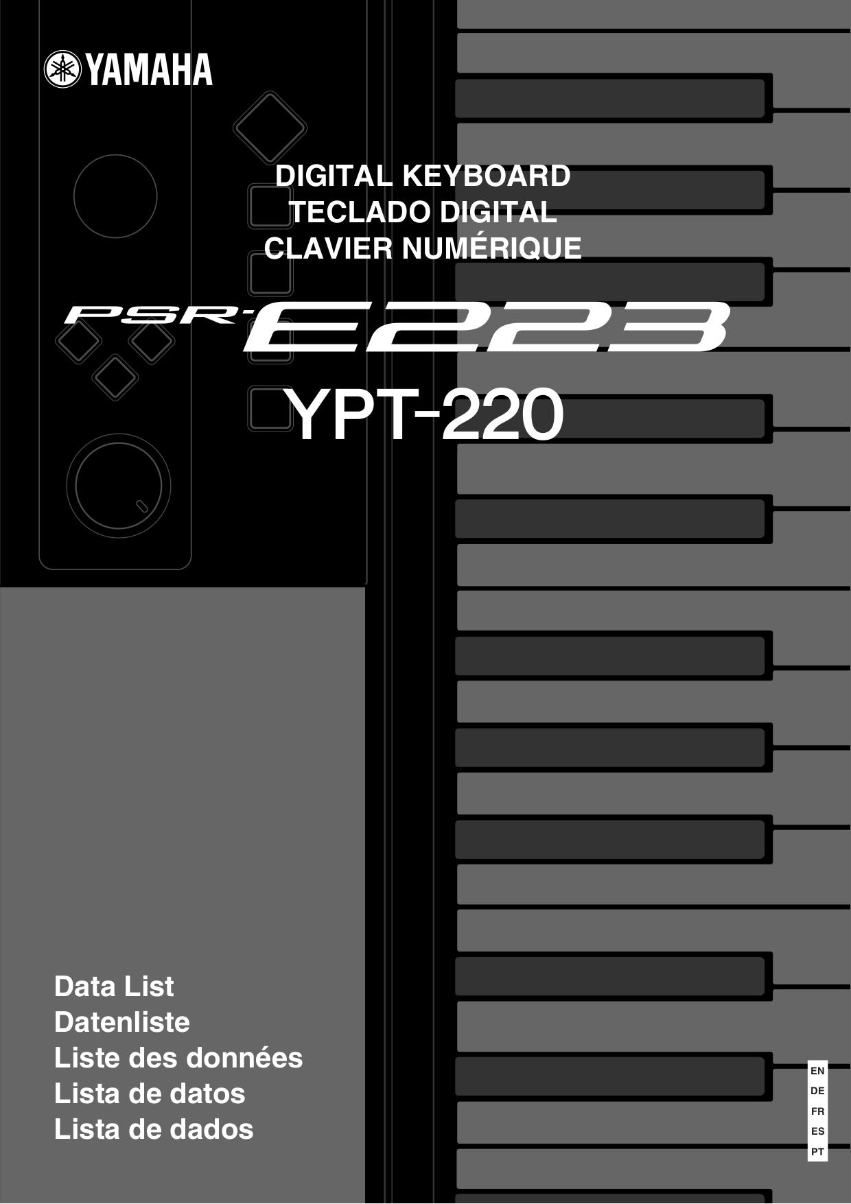 Yamaha psre223 61 key portable keyboard long & mcquade musical.