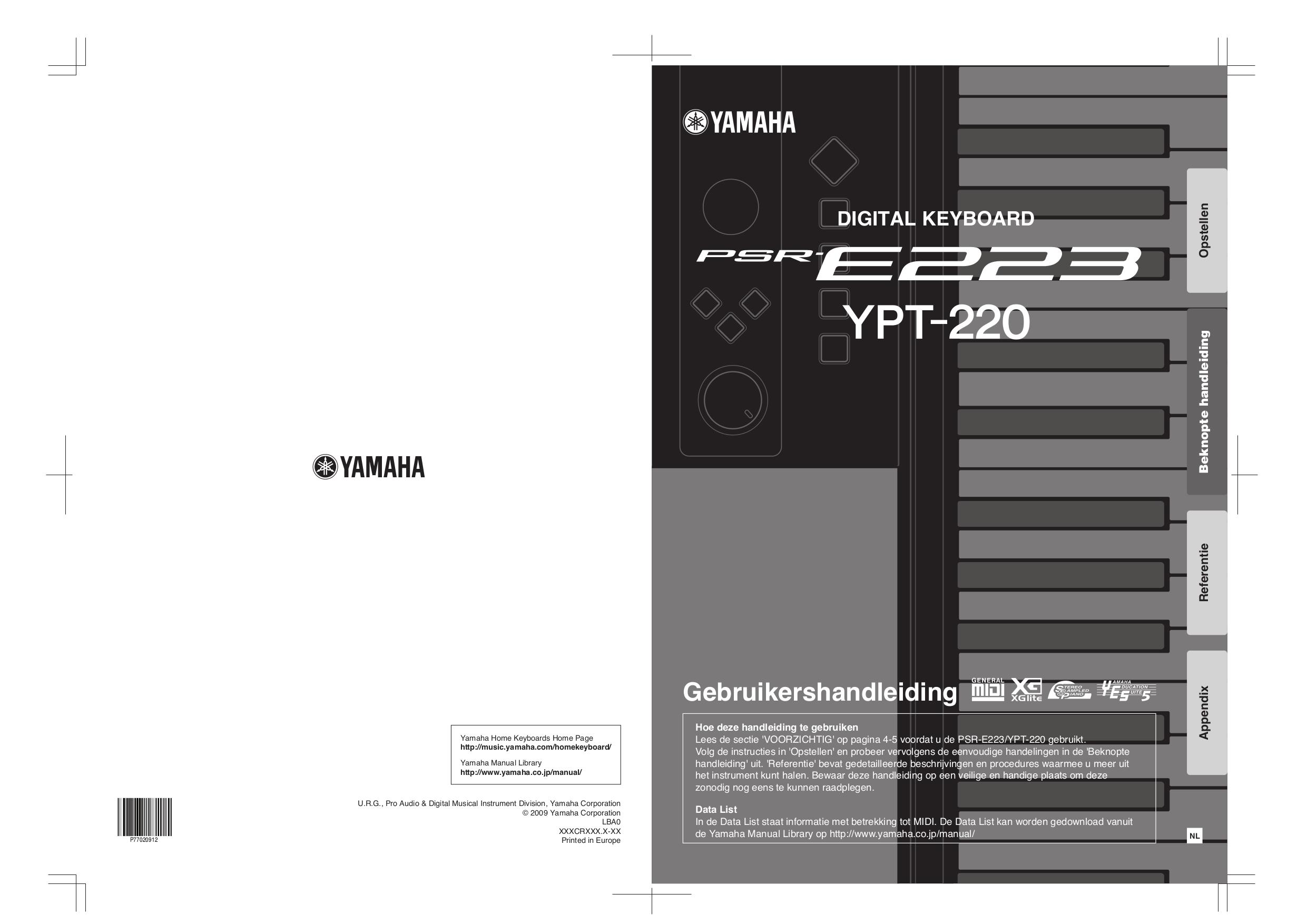 Yamaha psr-e223 entry-level portable keyboard | musician's friend.
