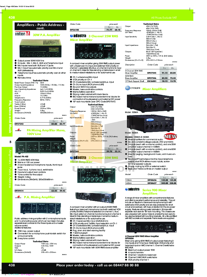 Crown Other 135MA Mixer-Amplifier-Combo pdf page preview