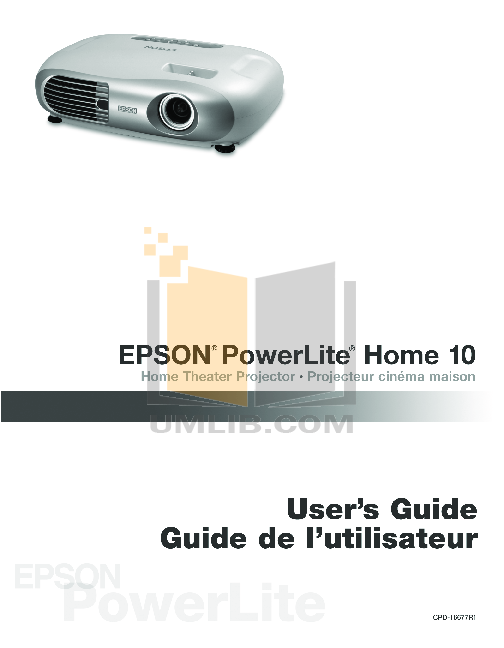 Epson Projector PowerLite 1720 pdf page preview
