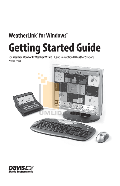 pdf for Davis Other Weather Monitor II weather-accessories manual